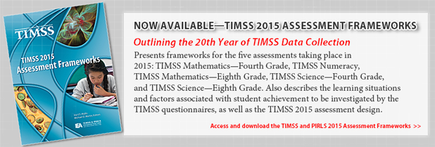 Presents frameworks for the five assessments taking place in 2015: TIMSS Mathematics—Fourth Grade, TIMSS Numeracy, TIMSS Mathematics—Eighth Grade, TIMSS Science—Fourth Grade, and TIMSS Science—Eighth Grade. Also describes the learning situations and factors associated with student achievement to be investigated by the TIMSS questionnaires, as well as the TIMSS 2015 assessment design.